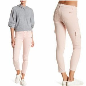 *HUDSON* Pink Colby Moto Skinny Cargo Jeans